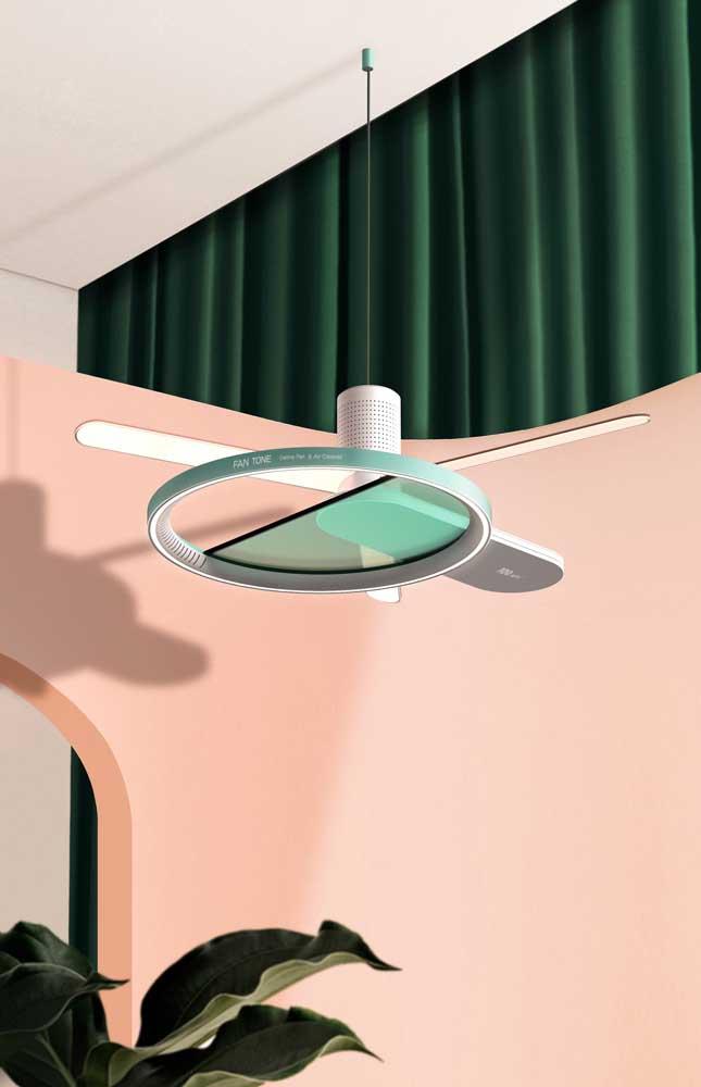 Acha que ventilador de teto não tem design? Olha esse aqui então!