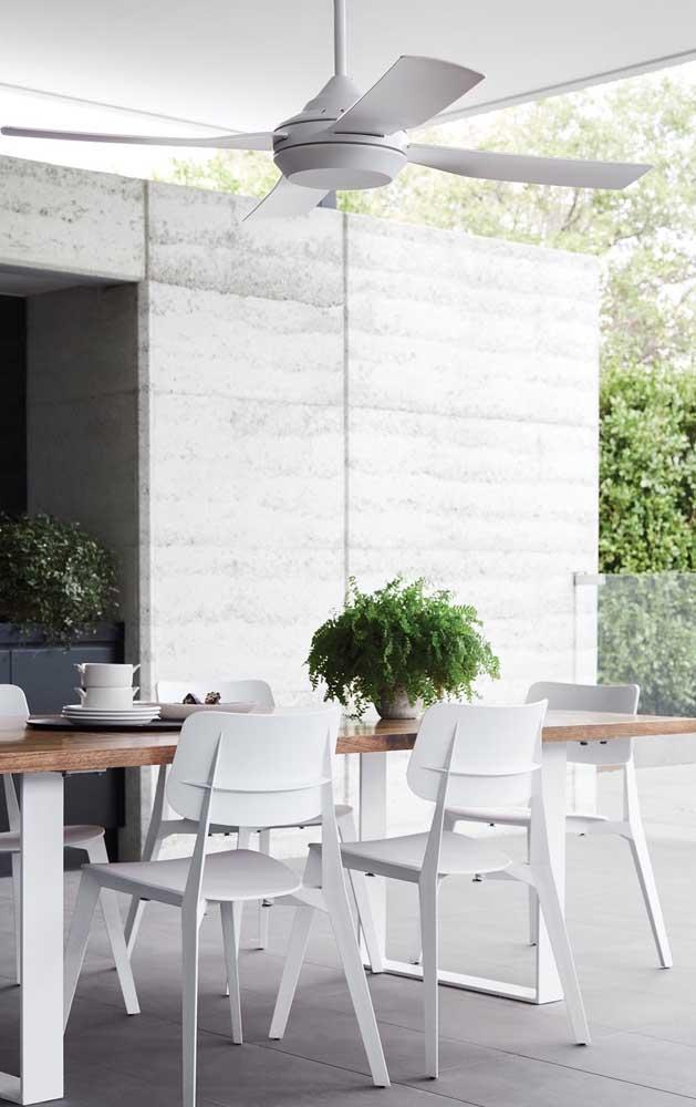 Ventiladores de teto em área externa devem ser fabricados com material resistente