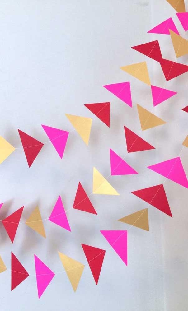 Mais uma ideia de bandeirinha de festa junina para quem deseja sair do padrão