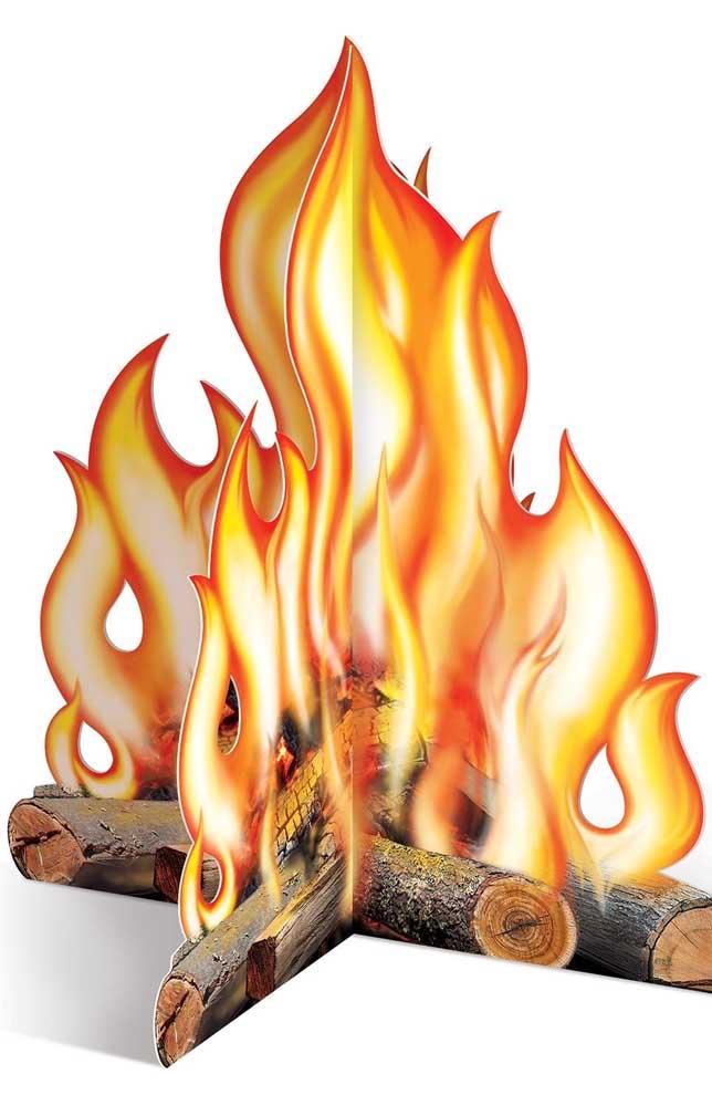 Essa fogueira aqui surpreende pelo realismo da imagem