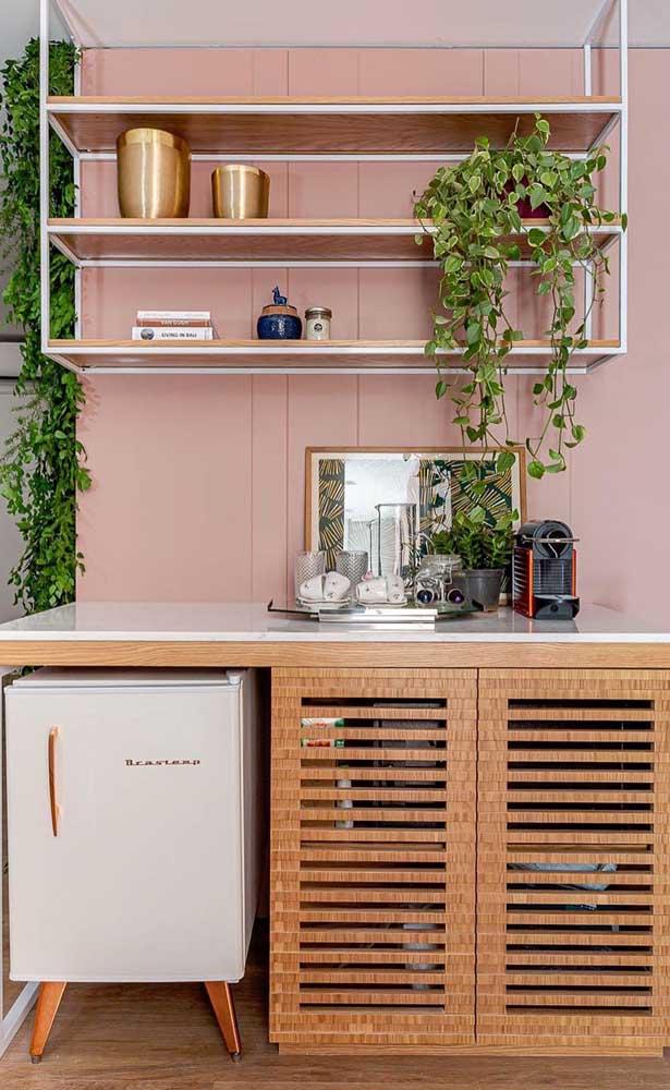 Mais uma ideia linda de como unir bar e café no mesmo espaço