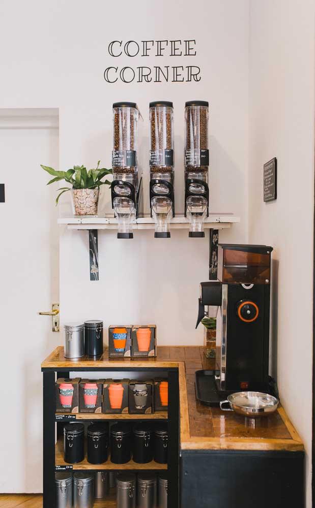 Um cantinho do café para quem aprecia a arte de torrar e preparar os grãos como um verdadeiro barista!