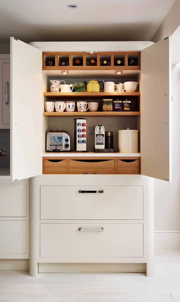 Ou quem sabe você prefira um cantinho do café moderno e sofisticado