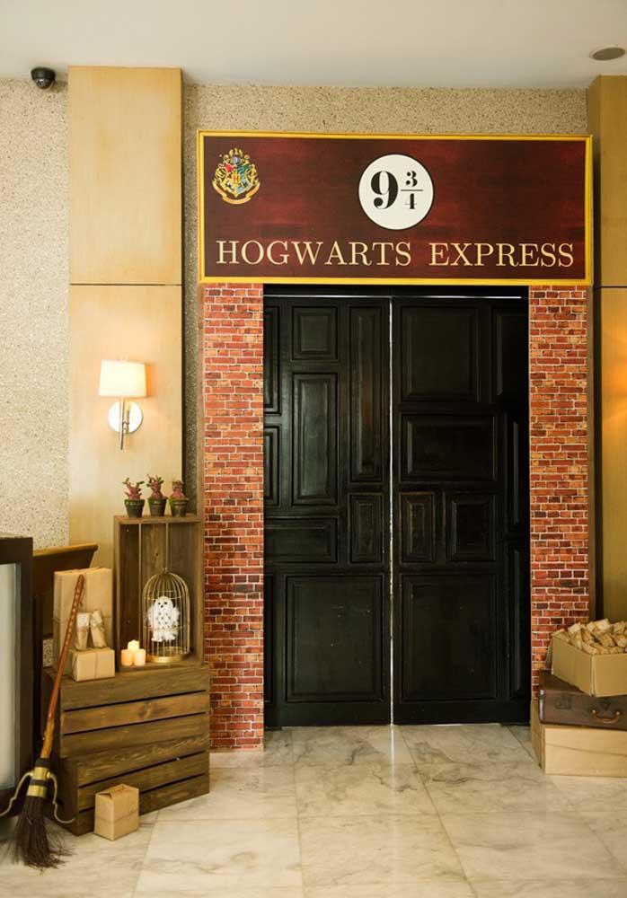 As portas da Hogwarts Express estão abertas.