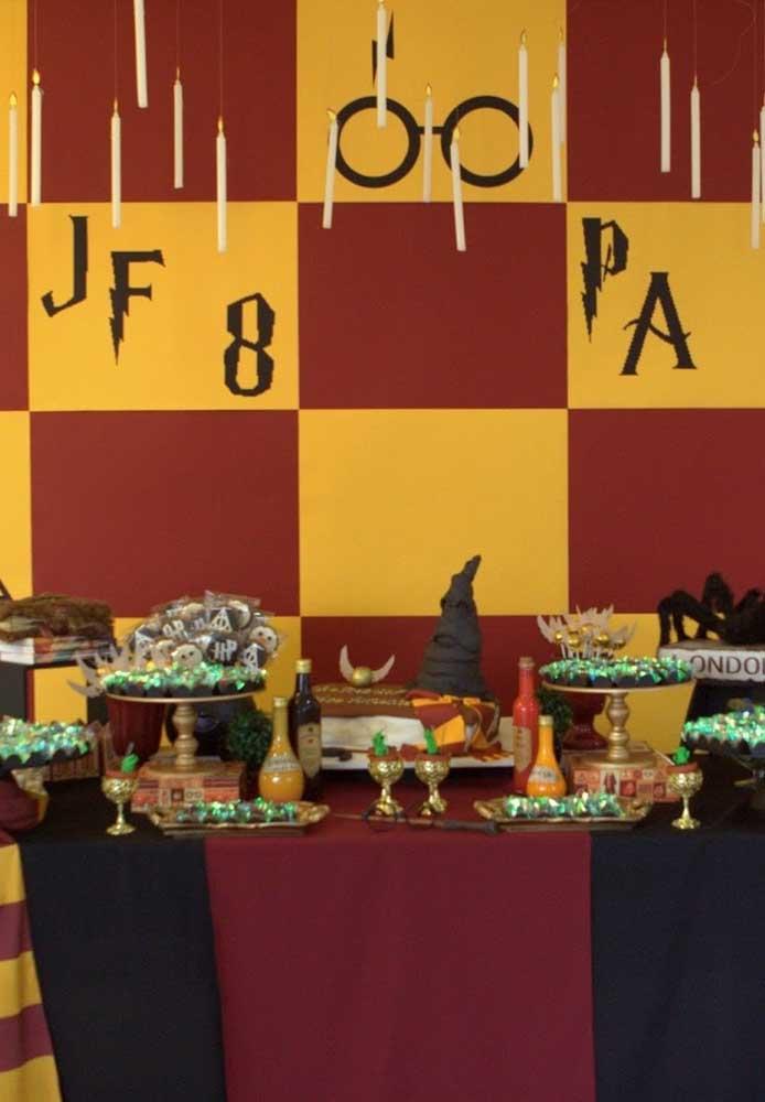 Faça o painel festa Harry Potter inspirado em alguma casa da série.