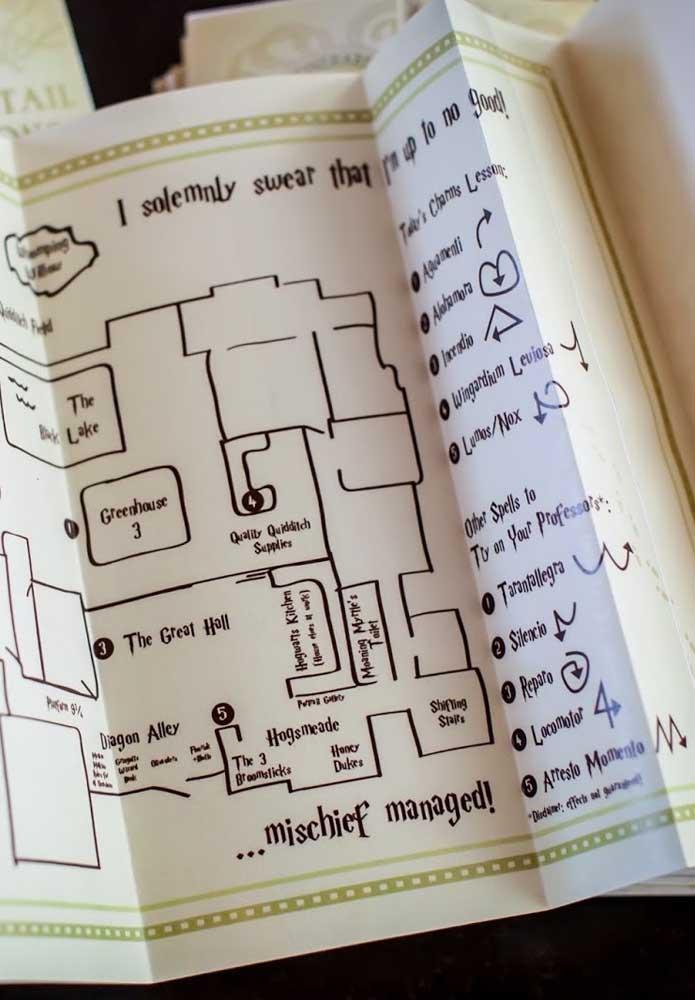Com o mapa fica mais fácil para seus convidados acessarem cada cantinho da festa.