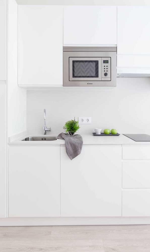 Saiba de antemão quais serão os eletrodomésticos que serão colocados na cozinha compacta, isso facilita o processo de planejamento da cozinha