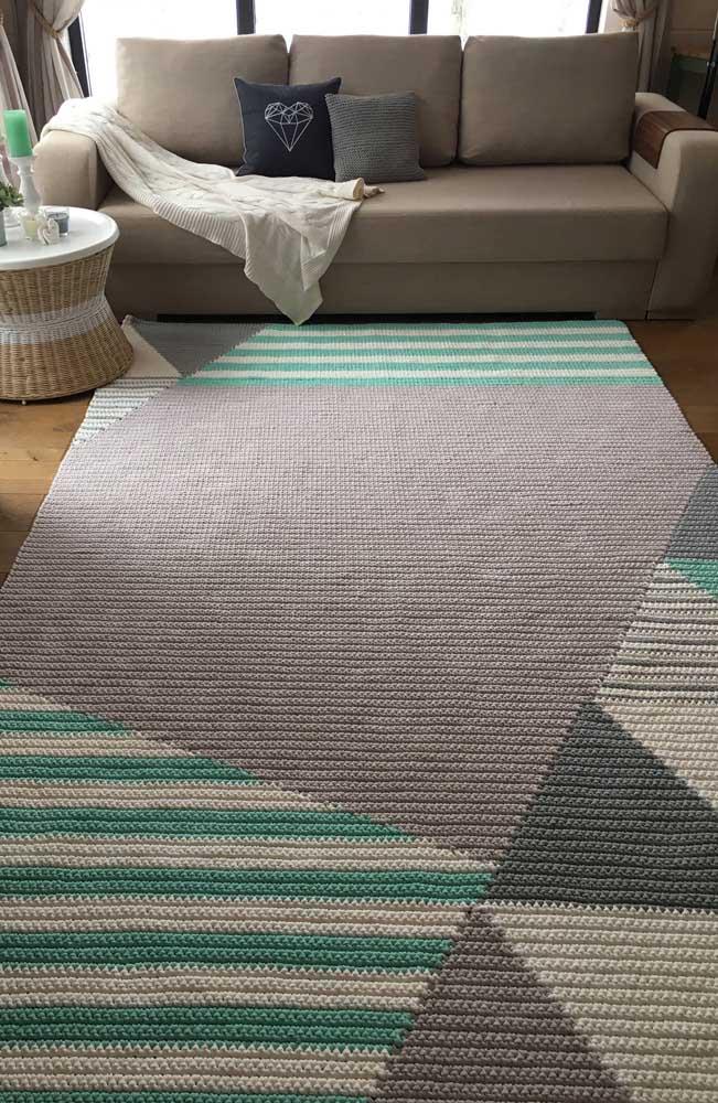 Uau! Esse é um daqueles tapetes de crochê que você para, olha e admira!