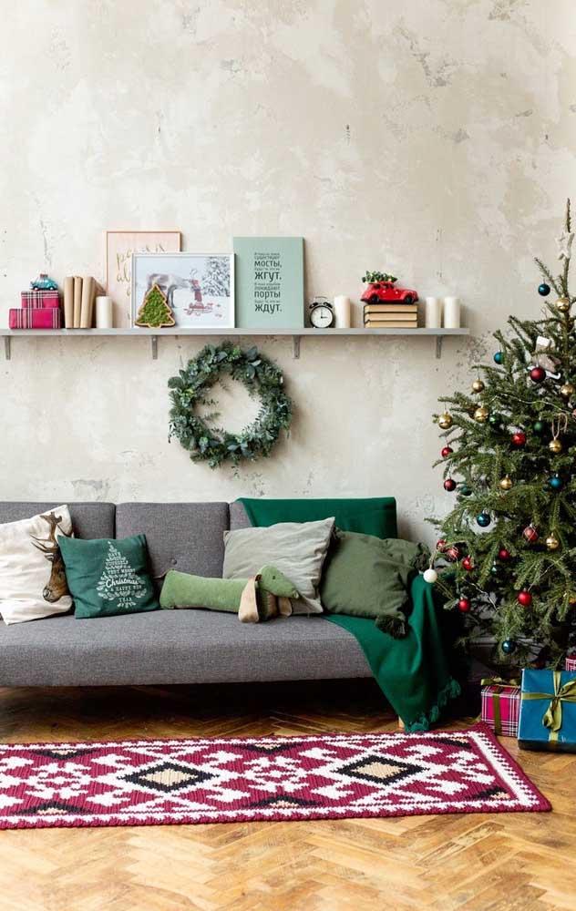 Tapete de crochê retangular em estilo passadeira para a sala de estar