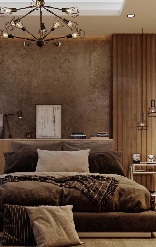Pendentes para quarto com estrutura metálica vazada; ideal para decorações modernas