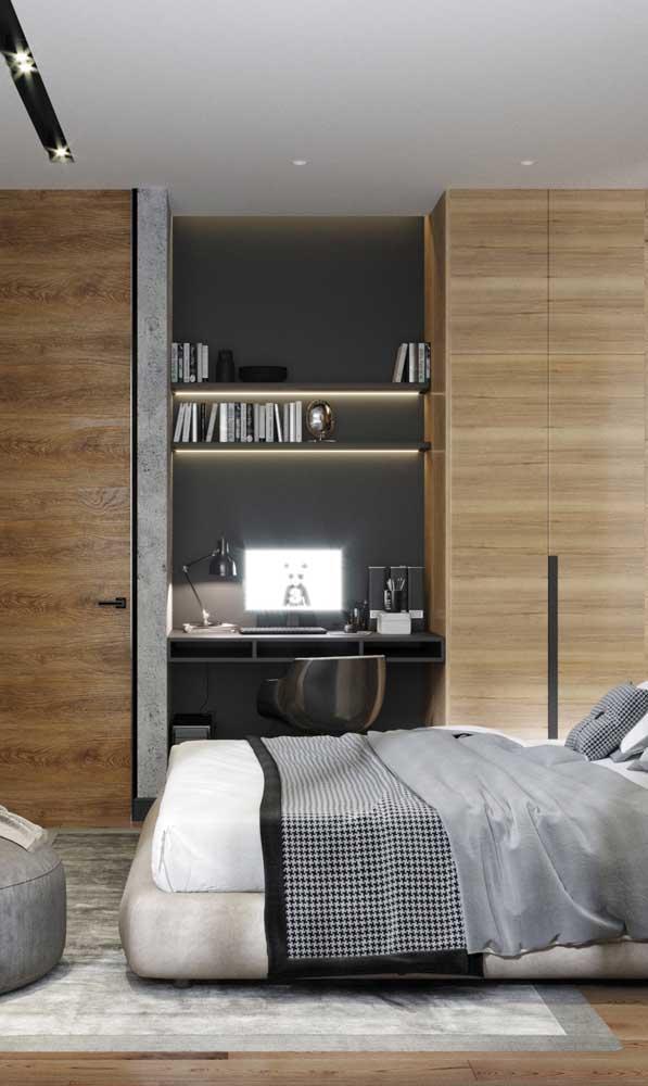 Fitas de LED para reforçar a iluminação da mesa de estudos e dar aquele toque a mais na decoração do quarto