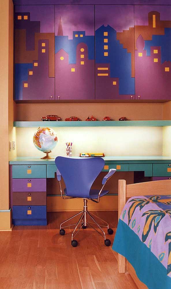 Um pouco de cor para quem aprecia ambientes mais descontraídos e não se afeta com eles