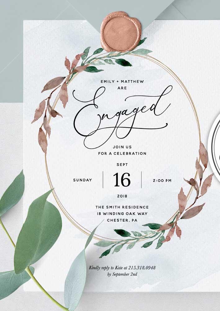 Lembre-se que a escolha do papel representa o estilo da festa e a personalidade dos noivos.