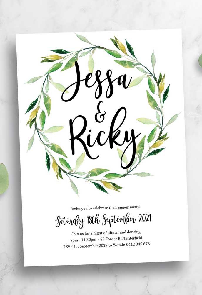 Os detalhes do convite devem representar a personalidade e criatividade dos noivos.