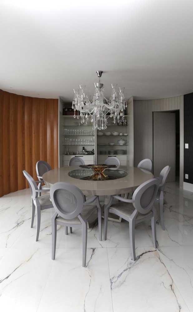 Lustre candelabro de cristal com oito braços para sala de jantar de estilo moderno e elegante