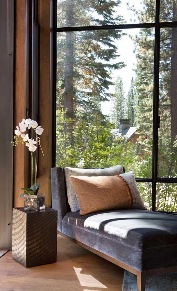 Chaise longue perfeita para relaxar. Repare como a estrutura realmente se assemelha a uma poltrona alongada