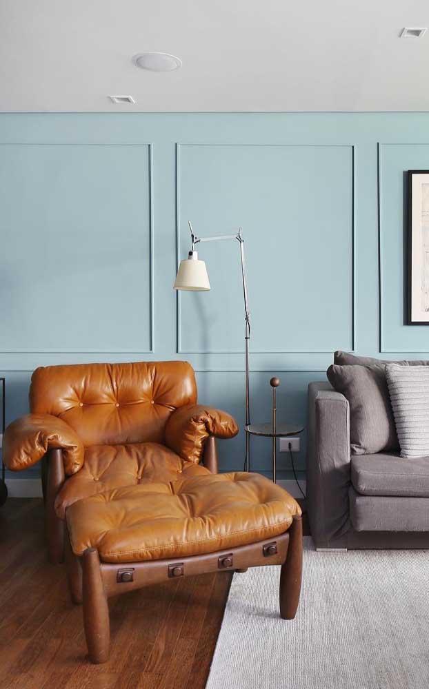 Chaise longue de couro caramelo: para quem deseja dar um up na decor