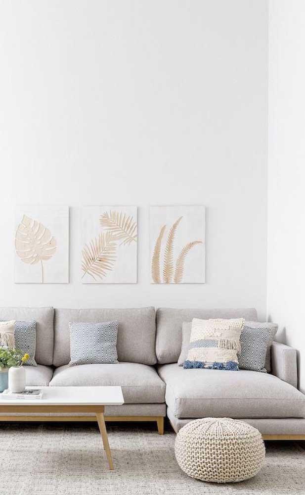 Chaise longue em perfeita harmonia com a paleta de cores escolhida para a decoração