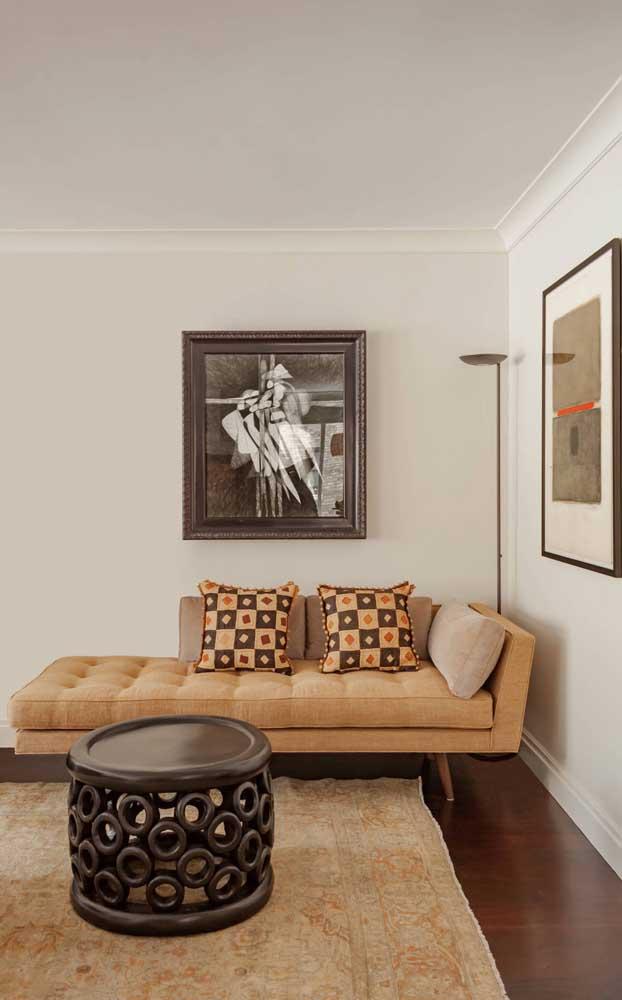 Um típico modelo de chaise longue para inspirar o seu projeto de decoração