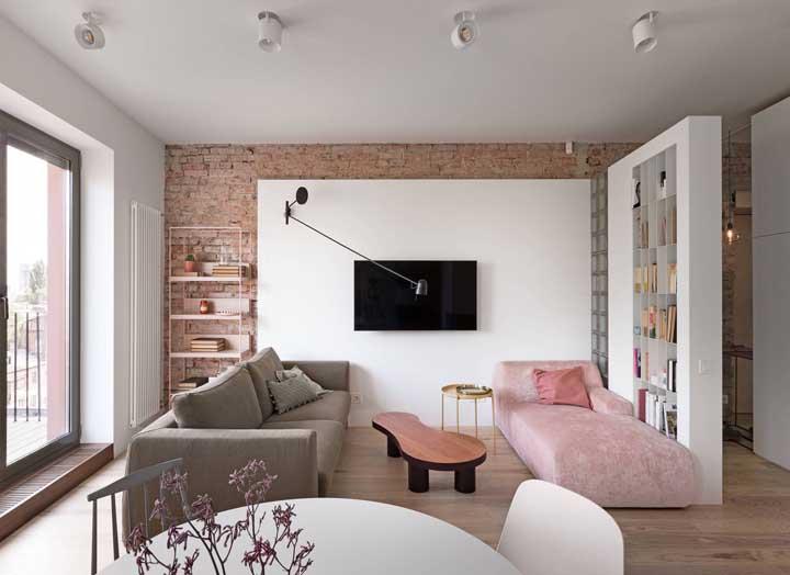 Chaise longue para garantir espaços extras na sala de estar