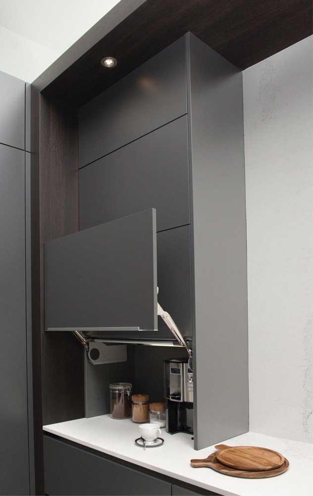 Móveis planejados são uma ótima pedida para otimizar o espaço da cozinha americana
