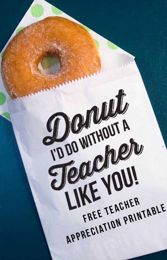 Que tal donut's para o dia do seu professor começar mais adocicado?