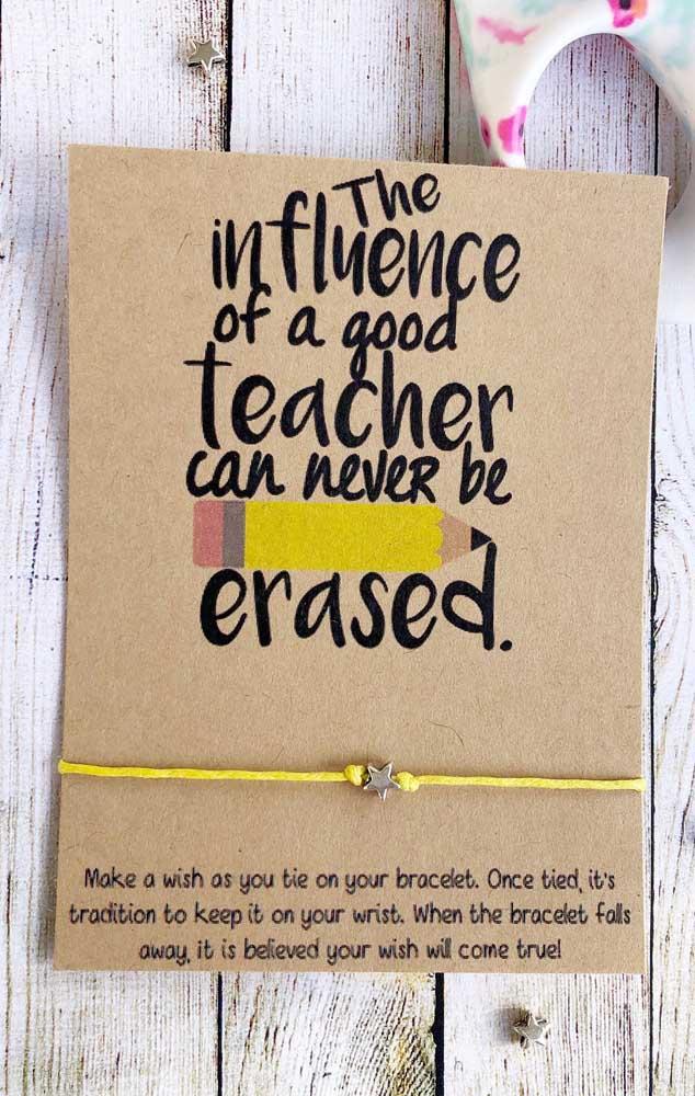 Trocadilhos são bem legais na hora de criar a mensagem para o dia dos professores