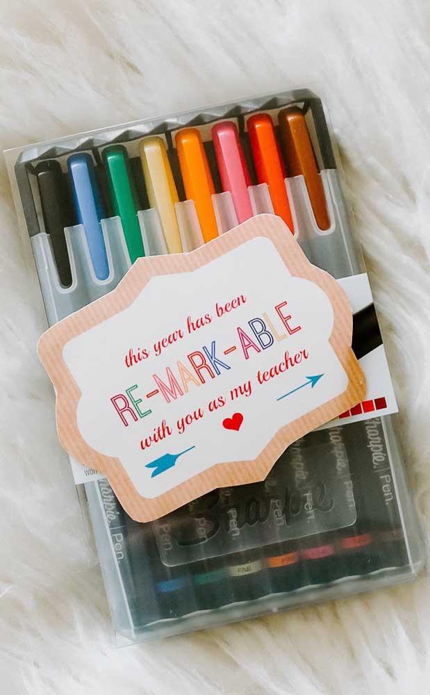 Canetinhas coloridas para facilitar a vida do professor em sala de aula