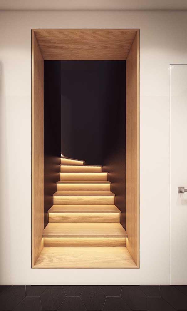 Uma escada ou uma passagem secreta? Super original essa proposta
