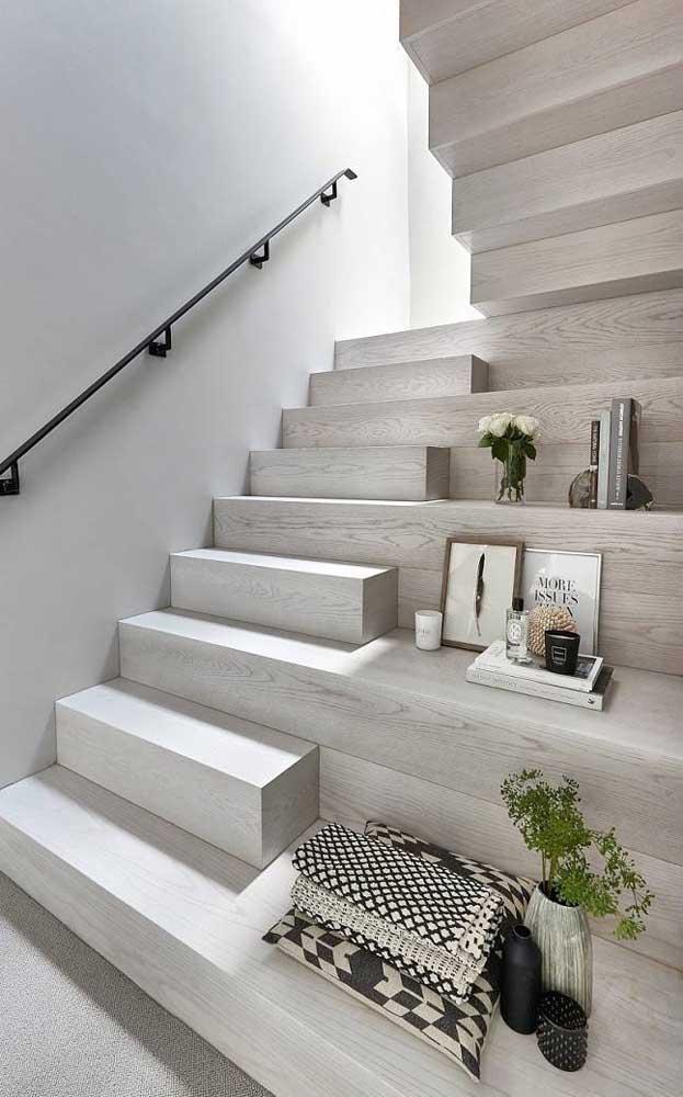 Parecem peças de encaixar, mas são apenas os degraus da escada