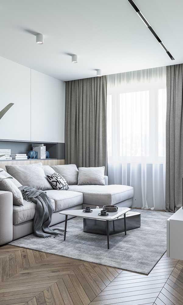 Não dispense um sofá super confortável, nem que para isso você precise abrir mão de outro móvel