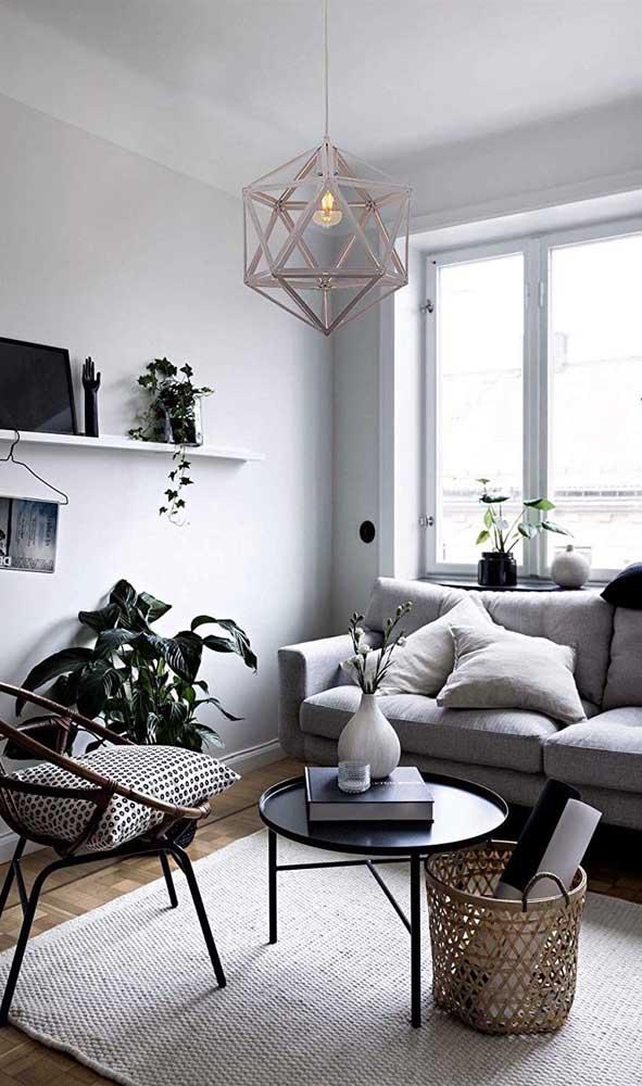 O estilo escandinavo é perfeito para salas pequenas