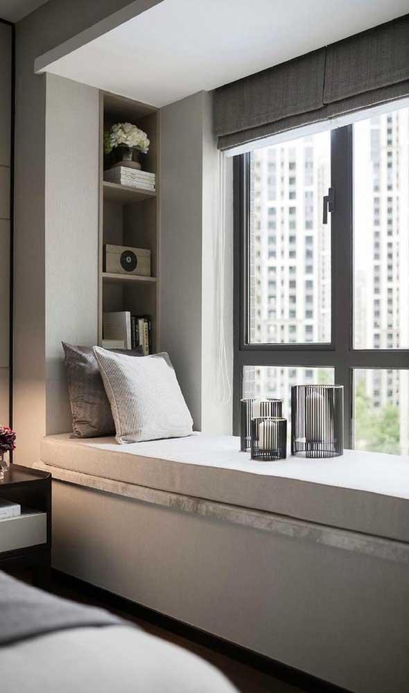 Janela maxi-ar de alumínio no quarto: ventilação e luz sob medida