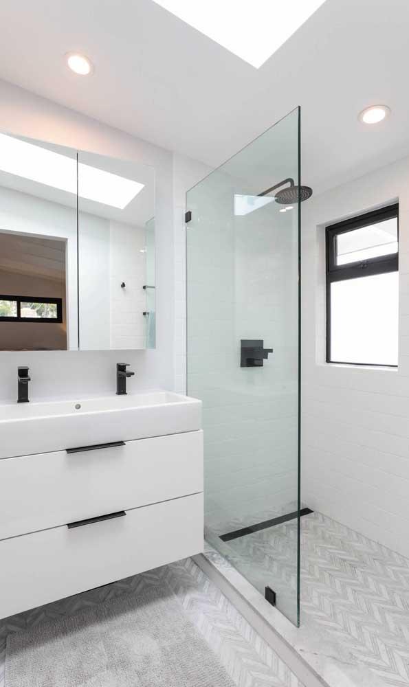 Vitrô maxi-ar de alumínio preto para o banheiro moderno e elegante