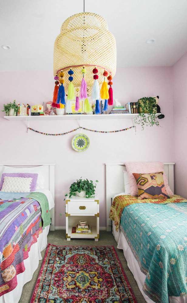 Que tal investir em uma decoração boho para o quarto dos gêmeos?