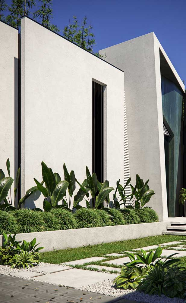 Crie formas e volumes com o muro de alvenaria, deixando-o mais moderno