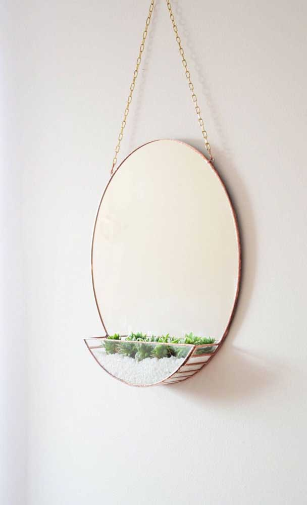 Para quem ama plantinhas, um modelo de Adnet com espaço para plantar suculentas