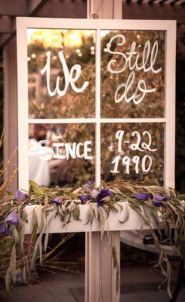 Inspiração rústica nessa decoração de bodas de pérola