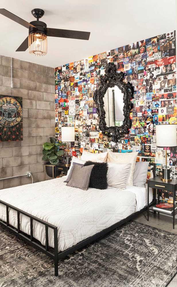 Dupla de abajures clássicos e elegantes para compor a decoração contemporânea do quarto de casal
