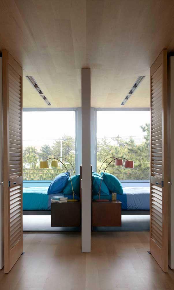 Opção moderna e colorida de abajures para o quarto