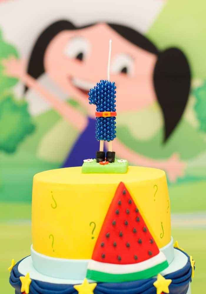 Olha que vela diferenciada para colocar no topo de bolo Show da Luna.