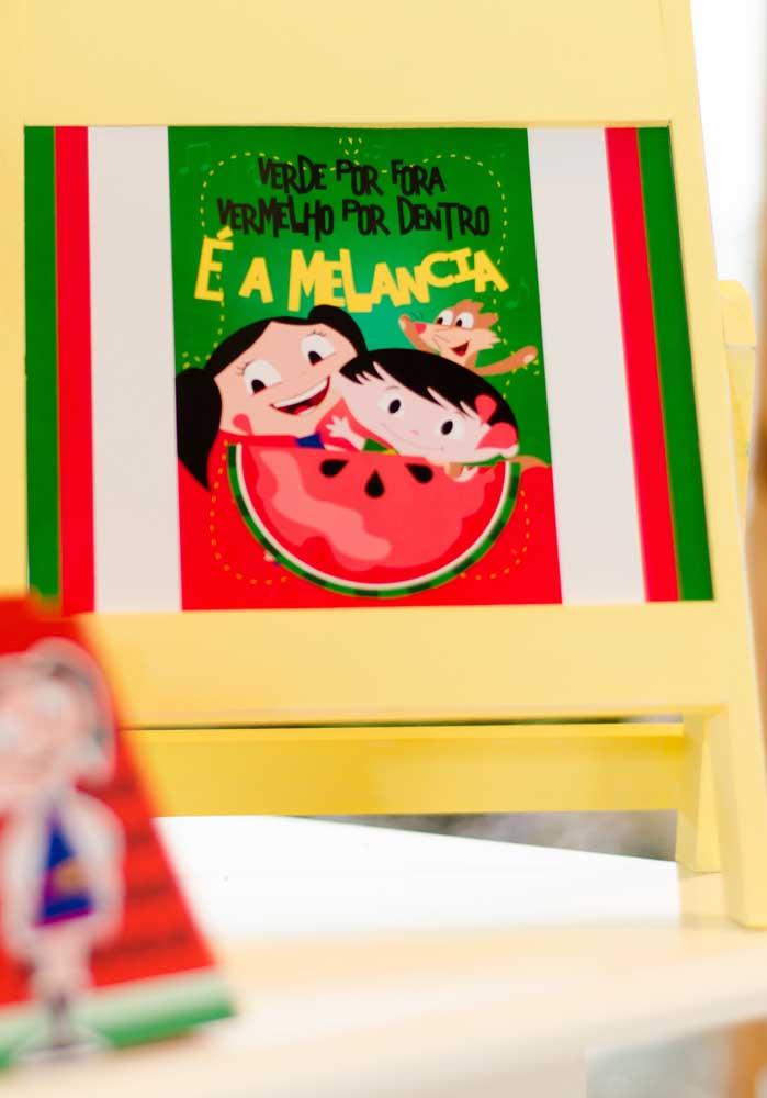 A melancia é um elemento decorativo que não pode faltar na festa Show da Luna.