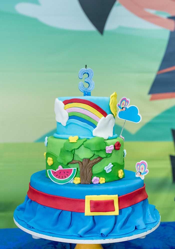 Que tal fazer um bolo fake Show da Luna?