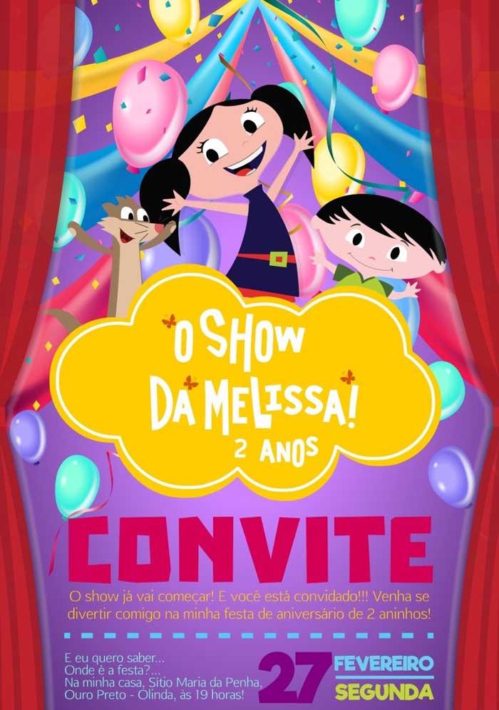 Se você está sem inspiração para fazer o convite Show da Luna, pode usar esse modelo.