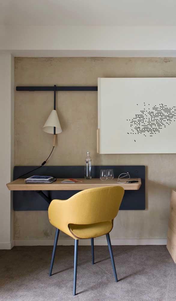Escrivaninha suspensa dobrável: praticidade, conforto e uma estética impecável