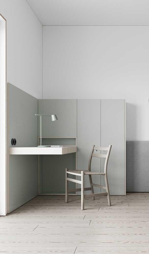Modelo moderno e minimalista de escrivaninha suspensa