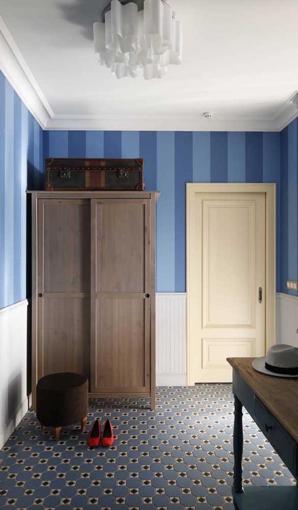 As listras largas trazem jovialidade e modernidade para a decoração