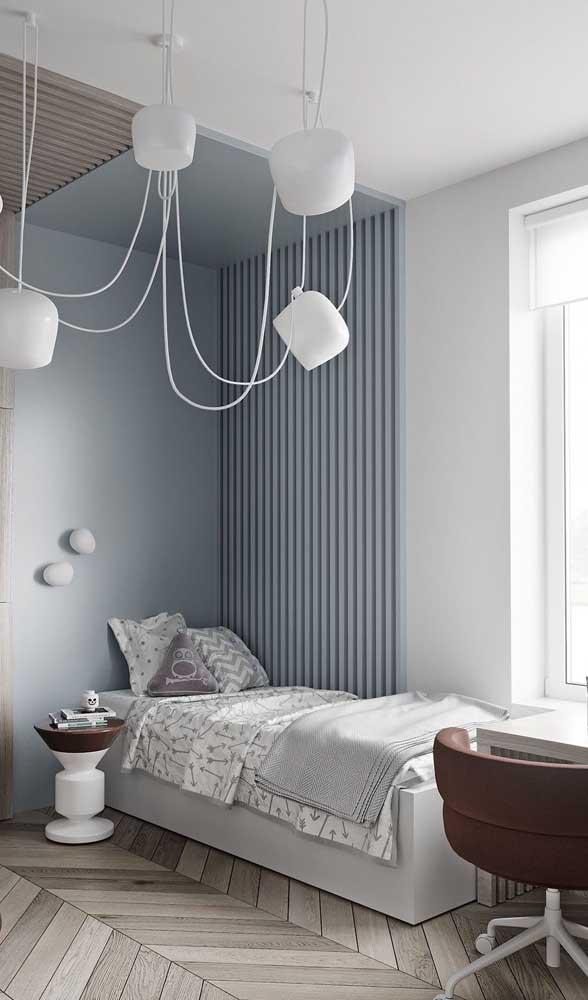 O piso laminado ou vinilico são duas das melhores opções para um quarto bonito e confortável