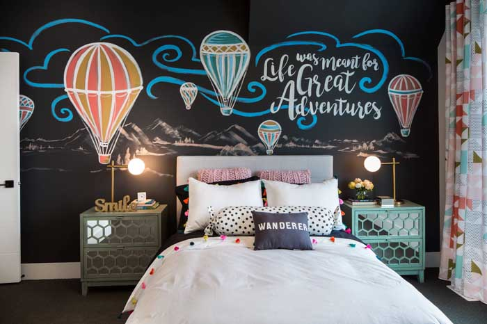 Para os moderninhos e descolados de plantão, esse quarto de solteiro é perfeito!