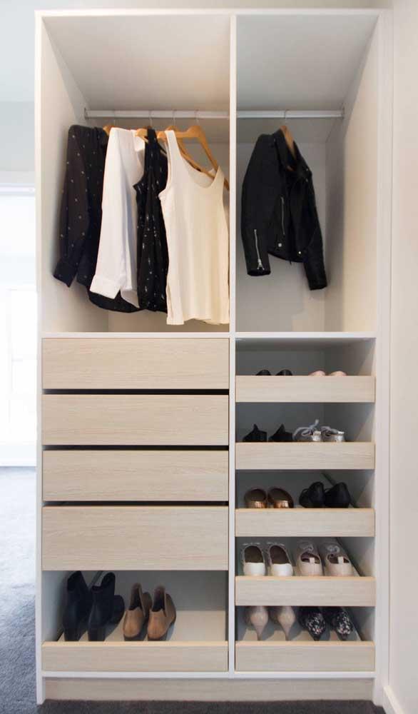 Para cada necessidade, um tipo diferente de guarda-roupa aberto